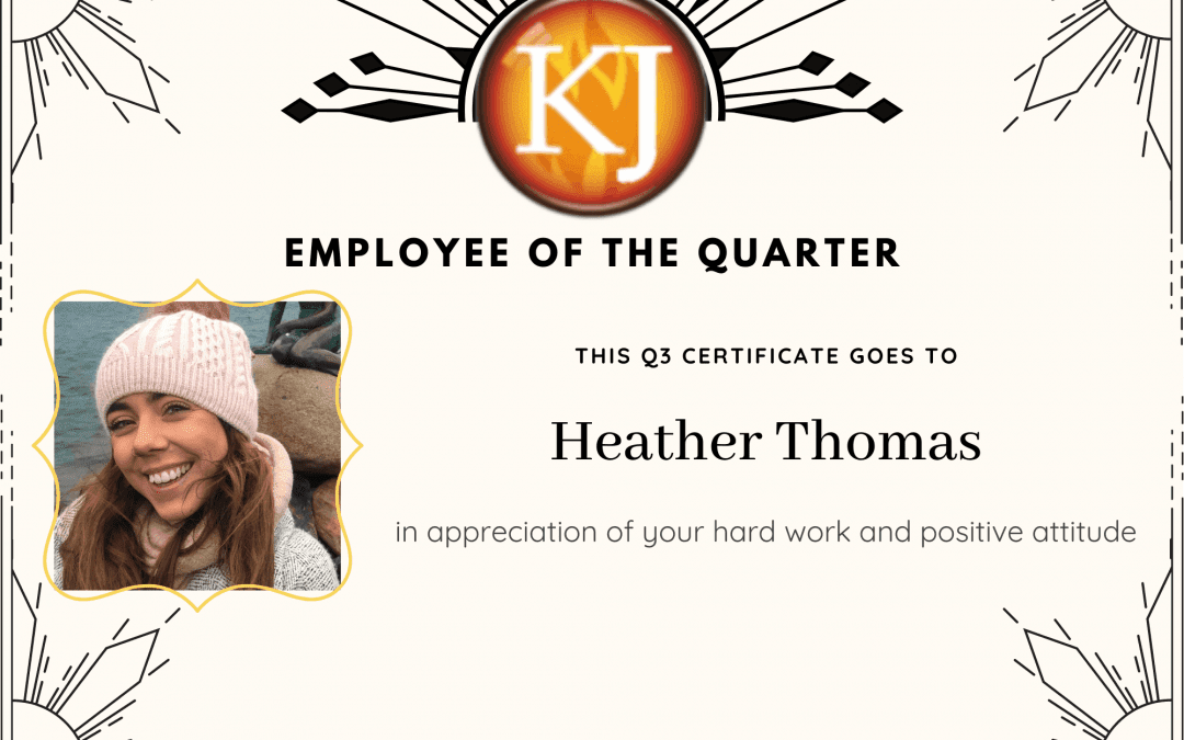 Employee of the Quarter- Our Q3 Award
